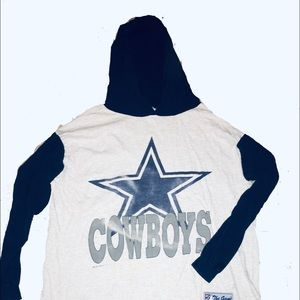 Vintage Dallas Cowboys hooded shirt